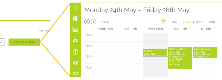 Resource Planning Project Calendar
