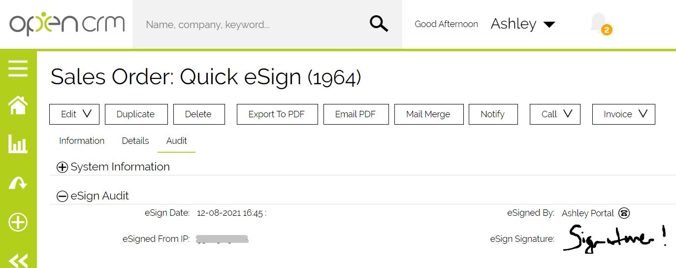 eSign - Signature Audit